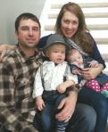 Their little family on Easter morning